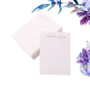 100pcs Jewelry Display Tags Simple Packing Tags For Earrings Necklace Bracelet