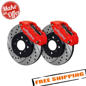Wilwood 140 12996 Dr Drilled And Slotted Rotor Forged Caliper Front Brake Kit