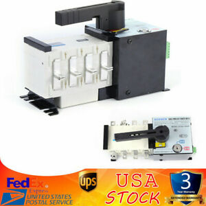 100a 4p 400v Dual Power Automatic Changeover Transfer Switch Isolation Type Us