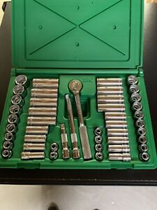 Sk Tools 94547 47 Pc 3 8 Dr Sae Metric Chrome Socket Wrench Set 6 Pts New