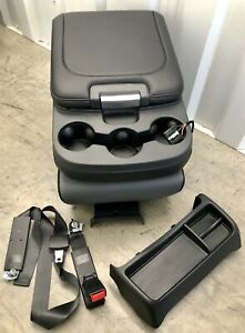 2003 2019 2020 Dodge Ram Center Jump Seat Console Black Gray Usb Seat Belts Tray