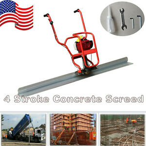 Gas Power 4 Stroke Concrete Surface Vibratory Leveling Screed 6 56 Tamper Blade