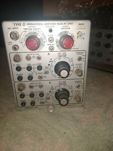 Vintage Tektronix Type O Operational Amplifier Plug In Unit