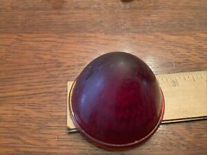 Vintage Beehive Lens Marker Clearance Light Red Glass Doray