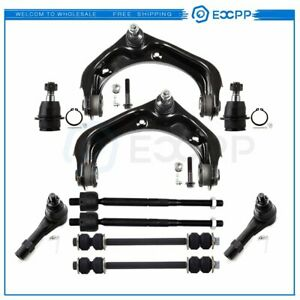 For 2006 2010 Ford Explorer 10pcs Front Upper Control Arms Sway Bars Tie Rods