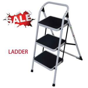 Protable Convenient 3 Step Home Ladder Folding Non Slip Safety Tread Industrial