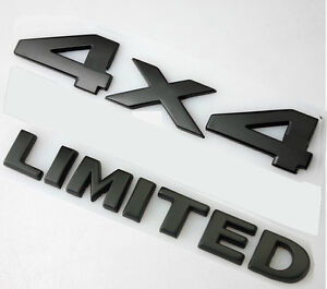 1x Black 4 X 4 3d Decal Emblem Limited For Fits Grand Cherokee