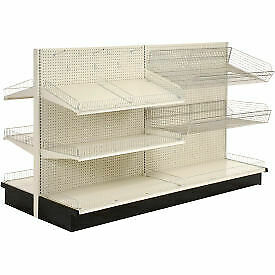 Lozier Gondola Shelving 36 w X 47 d X 84 h Double Side Aisle Add on 796469