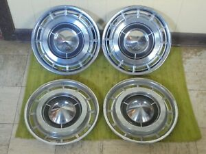 1960 Buick Hub Caps 15 Set Of 4 Wheel Covers Hubcaps 60