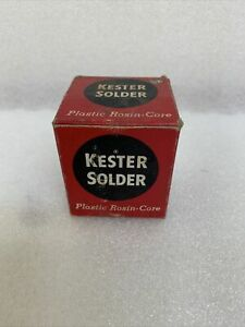 Vintage Kester Plastic Rosin Core Solder Fat 9 5 Oz W box 2d
