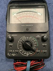 Micronta 22 210 Electrical Multimeter W Leads Radio Shack Vgc