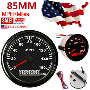Waterproof 85mm 0 160mph Gps Speedometer Gauge For Car Truck Motorcycle Marine