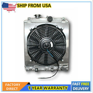 Aluminum Radiator With Shroud And Fan Kit For 1992 2000 Honda Civic At