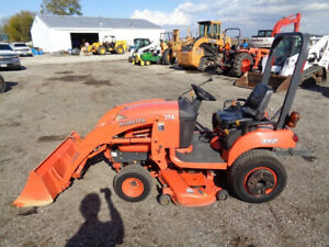Kubota Bx1850 Tractor 4wd Hydro La203 Front Loader Belly Mower 1 286 Hours