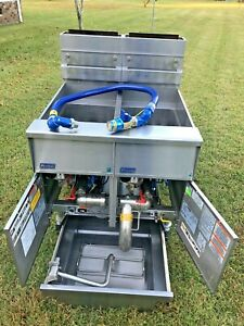 Pitco Solstice Double Fryer Model Sg14 Filtration Natural Gas Xtra Clean