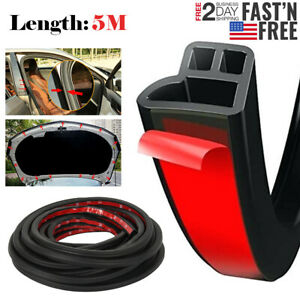 5m L Shape Car Door Rubber Seal Strip Hood Trunk Trim Edge Moulding Weatherstrip