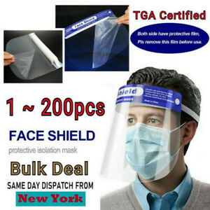 Full Face Shield Mask Clear Protective Film Shields Visor Safety Cover Anti fog
