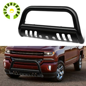 For 2007 2018 Silverado Gmc Sierra 1500 Bull Bar Push Front Bumper Grille Guard
