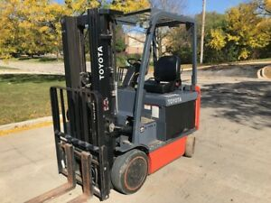 2016 Toyota 5 000lb Capacity Electric Low Hour Forklift High Lift