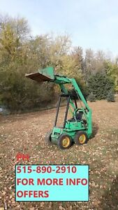 Mini Compact Bobcat 310 Mustang Skid Steer Wheel Loader Gas 35 Bucket