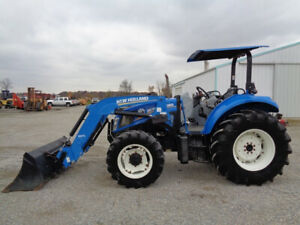 2013 New Holland T4 105 4wd Nh 665tl Loader 12 Spd Power Shuttle 2 547 Hours