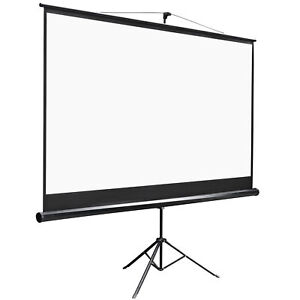 Projector Screen With Stand 100 Inch 16 9 Hd 4k Outdoor Indoor Projection Screen