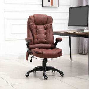 Executive Office Computer Desk Chair W high Back 6 point Vibration Massagers