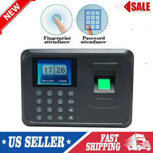 2 4 Inch Tft Lcd Biometric Fingerprint Attendance Employee Time Clock Usb A0j1