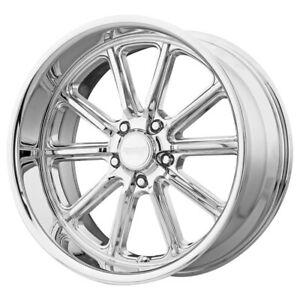 Staggered american Racing Vn507 Rodder 18x8 18x9 5 5x5 0mm Chrome Wheels Rims