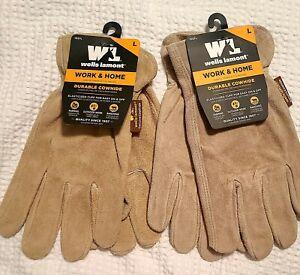 Wells Lamont Cowhide Work Home Gloves Size L New
