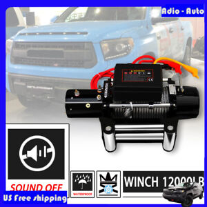 Adio 12000lbs Dc 12v Electric Mute Auto Brake Ip67 Waterproof Winch Kit