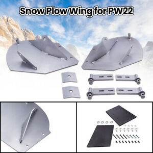 Aftermarket 20 Snow Plow Pro wings Extensions Extender For Pw22