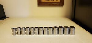 Snap On Metric 1 2 Drive Shallow Socket Set 10mm 22mm 12 Pt