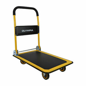 Olympia Tools 350 Pound Capacity Rolling Dolly Platform Utility Cart open Box