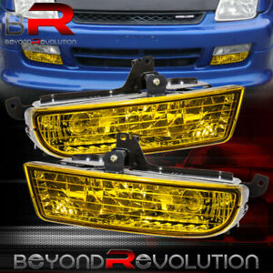For 1997 2001 Honda Prelude Yellow Bumper Fog Lights Driving Lamps Replacement