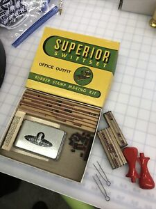 Vintage Superior Swiftset Office Rubber Stamp Making Kit New Old Stock
