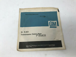 Genuine Gm Part Transmission Clutch Plate Gm8641511 Parts Gr 4 163 Free Shipping