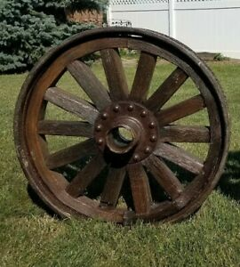 Wood Spoke Wheel With Metal Outer Rim Model T