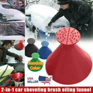 Ice Scraper Car Windshield Snow Remover Tool Cone Shaped Round Funnel Oil