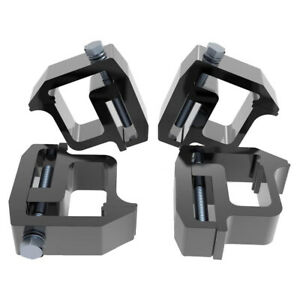 4x Mounting Clamps Truck Caps Camper Shell Powder coated For Chevy dodge