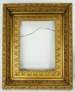 Antique 19th C Gold Victorian Picture Painting Frame Beautiful Details