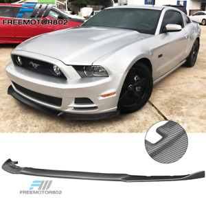 Fits 13 14 Ford Mustang Front Bumper Lip Carbon Fiber Print Ikon Style