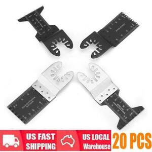 20 Pieces Saw Blade Oscillating Multi Tool For Cutting Wood Plastic Soft Metal