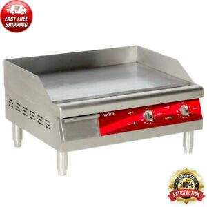 Avantco 24 Electric Commercial Countertop Steel Flat Top Griddle Grill 208 240v