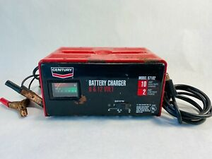 Century Battery Charger 6 12 Volt Model 87102 10 2 Amp Works Great