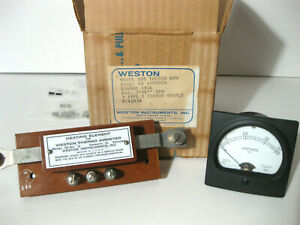 Two Weston Model 308 Rf Ammeters Heating Elements 45 Amp Two Vtg Matched Sets