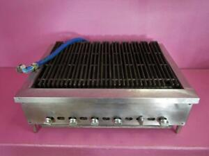 Imperial Commercial 36 Gas Radiant Char Broiler 6 Burner Grill Countertop