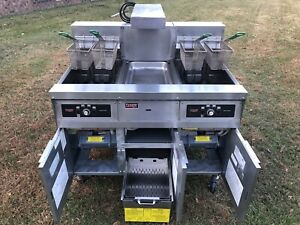 Frymaster Double Electric Fryer Model Fh14sd 208v 3ph Xtra Clean Filtration