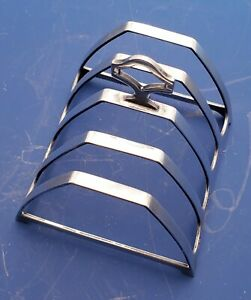English Sterling Silver Toast Rack By W A