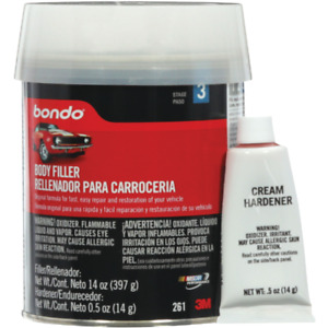 3m Bondo Pt Original Body Filler W Hardener 261 1 Each